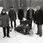 BarraMacNeils Christmas sled (b&w)
